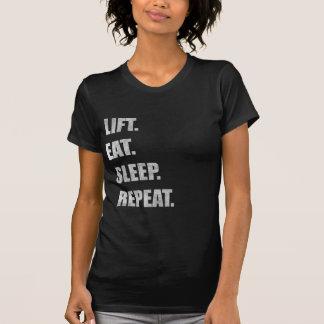 Elevación. Coma. Sueño. Repetición Camisetas