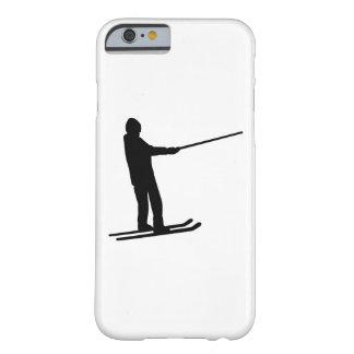Elevación de la fricción del esquí funda de iPhone 6 barely there
