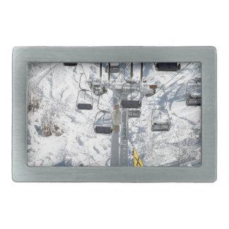 Elevación de silla del esquí hebillas de cinturon rectangulares