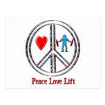 Elevación del amor de la paz postal