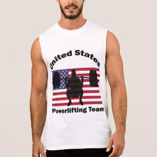 Elevación del peso de Estados Unidos Powerlifting Camisetas Sin Mangas