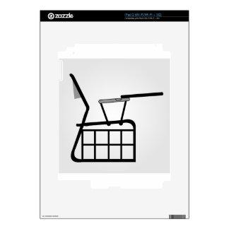 Elevación seccional de la tabla para los skins para iPad 2