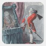 Elevación señorial, pub. por Hannah Humphrey, 1802 Pegatina Cuadrada