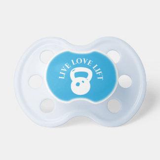 Elevación viva del amor chupete de bebe