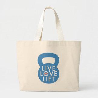 """¡Elevación viva del amor del azul """"! """" Bolsa Tela Grande"""