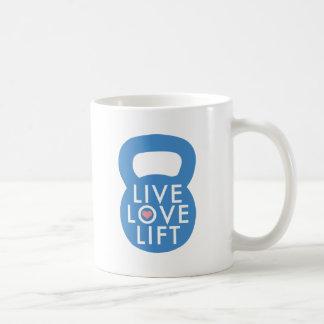 """¡Elevación viva del amor del azul """"! """" Taza De Café"""