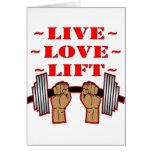 Elevación viva del amor del levantamiento de pesas felicitacion