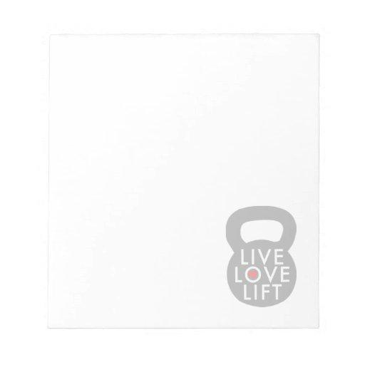 Elevación viva del amor en gris blocs de notas