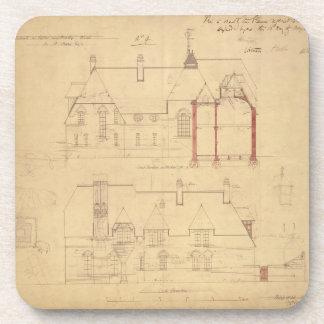 Elevaciones para la casa roja, brezo de Bexley (en Posavasos De Bebidas
