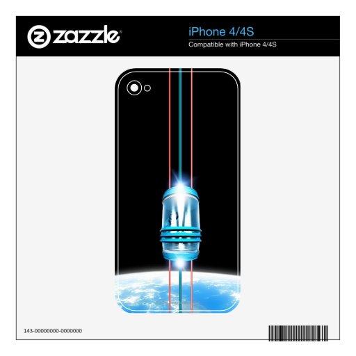 Elevador futurista del espacio iPhone 4S calcomanía