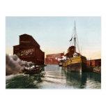 Elevadores 1900 del río Chicago del vintage Tarjeta Postal