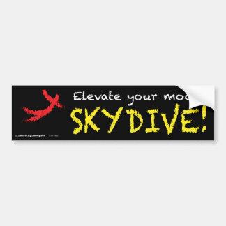 Elevate your mood. SKYDIVE! Car Bumper Sticker