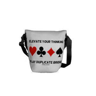 Elevate Your Thinking Play Duplicate Bridge Courier Bags