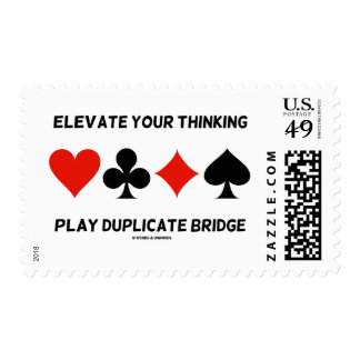 Elevate Your Thinking Play Duplicate Bridge Postage