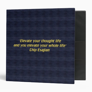 Elevate your thoughts 3 ring binder