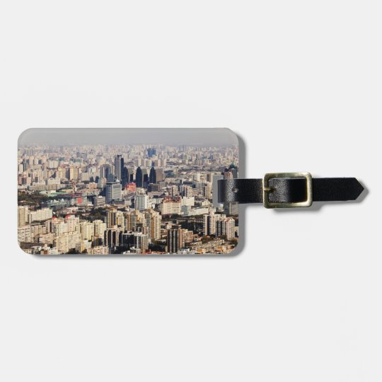 Elevated Beijing Cityscape Luggage Tag