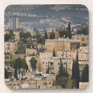 Elevated city view from Jerusalem YMCA tower Drink Coaster