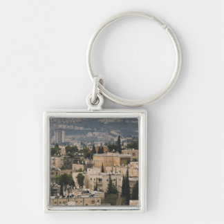 Elevated city view from Jerusalem YMCA tower Keychain