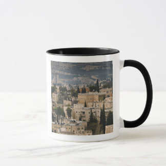 Elevated city view from Jerusalem YMCA tower Mug