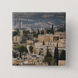 Elevated city view from Jerusalem YMCA tower Pinback Button
