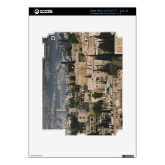 Elevated city view from Jerusalem YMCA tower iPad 3 Decals