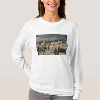 Elevated city view from Jerusalem YMCA tower T-Shirt