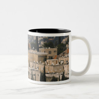 Elevated city view from Jerusalem YMCA tower Two-Tone Coffee Mug