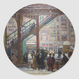 Elevated Columbus Avenue - Gifford Beal Classic Round Sticker