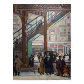 Elevated Columbus Avenue - Gifford Beal Postcard
