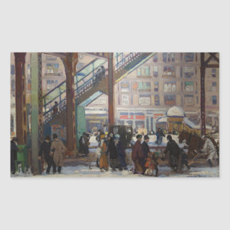 Elevated Columbus Avenue - Gifford Beal Rectangular Sticker