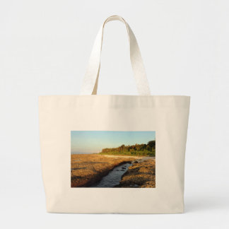 Elevated coral reef tropical island tote bags
