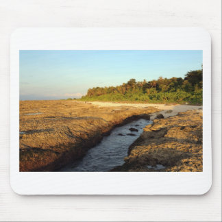Elevated coral reef tropical island mousepad