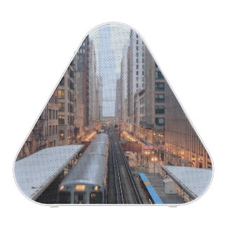 Elevated rail in downtown Chicago over Wabash Bluetooth Speaker