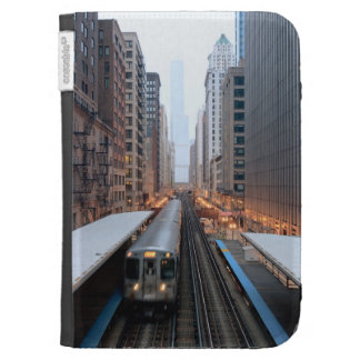 Elevated rail in downtown Chicago over Wabash Kindle 3 Covers