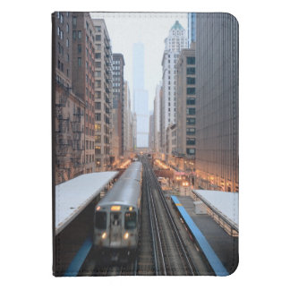 Elevated rail in downtown Chicago over Wabash Kindle 4 Case