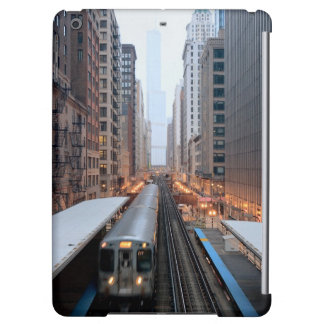 Elevated rail in downtown Chicago over Wabash iPad Air Case