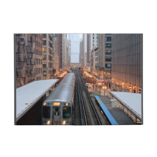 Elevated rail in downtown Chicago over Wabash iPad Mini Cases