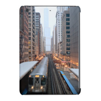 Elevated rail in downtown Chicago over Wabash iPad Mini Covers