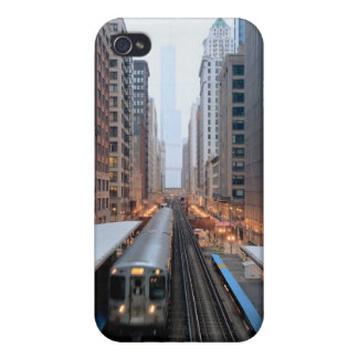 Elevated rail in downtown Chicago over Wabash iPhone 4/4S Case