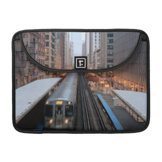 Elevated rail in downtown Chicago over Wabash Sleeves For MacBook Pro