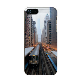 Elevated rail in downtown Chicago over Wabash Metallic iPhone SE/5/5s Case