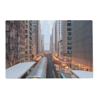Elevated rail in downtown Chicago over Wabash Placemat