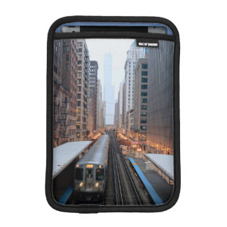 Elevated rail in downtown Chicago over Wabash Sleeve For iPad Mini