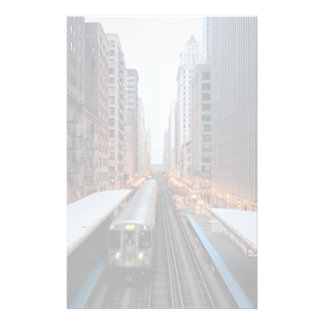Elevated rail in downtown Chicago over Wabash Stationery