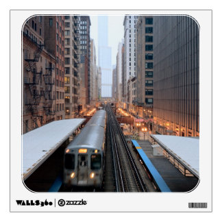 Elevated rail in downtown Chicago over Wabash Wall Decals
