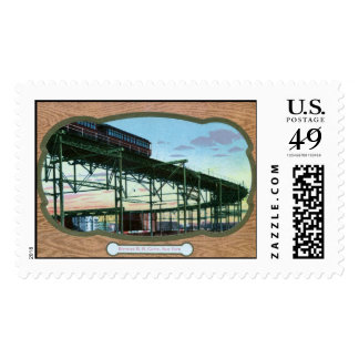 Elevated Rail Road, New York City Vintage Stamps