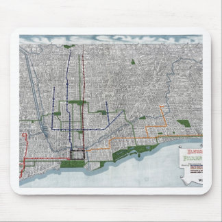 Elevated rails and the parks of Chicago 1908 Mouse Pad