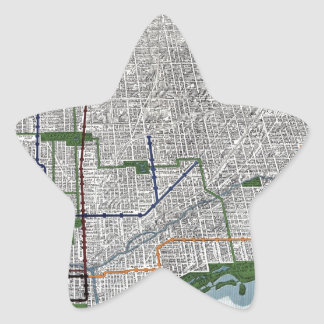 Elevated rails and the parks of Chicago 1908 Star Sticker