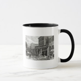 Elevated Railway in Greenwich Street, New York Mug