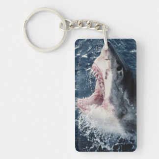Elevated Shark mouth open Keychain